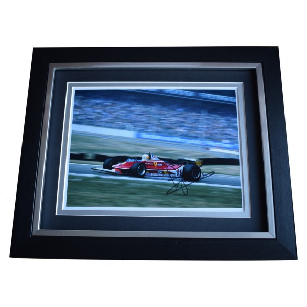 Jody Scheckter SIGNED 10x8 FRAMED Photo Autograph Display Formula 1 Sport  AFTAL  COA Memorabilia PERFECT GIFT