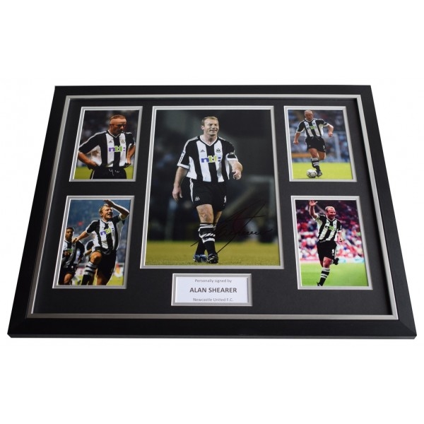 Alan Shearer SIGNED Framed Photo Autograph Huge display Newcastle United COA AFTAL