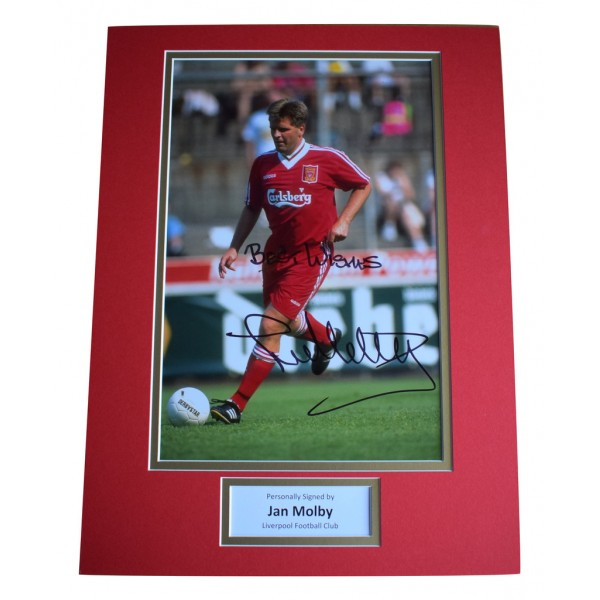 Jan Molby SIGNED autograph 16x12 photo display Liverpool Football   AFTAL  COA Memorabilia PERFECT GIFT