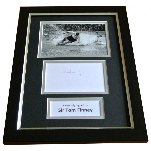 Tom Finney Signed A4 FRAMED Photo Autograph Display Preston North End & COA PERFECT GIFT