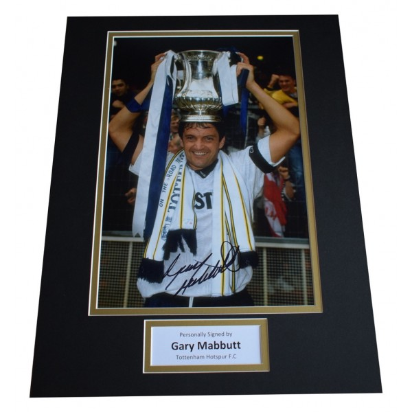 Gary Mabbutt SIGNED autograph 16x12 photo display Tottenham Hotspur AFTAL  COA Memorabilia PERFECT GIFT