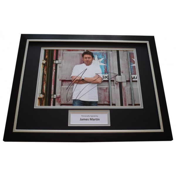 James Martin SIGNED FRAMED Photo Autograph 16x12 display Saturday Kitchen TV AFTAL &  COA Memorabilia