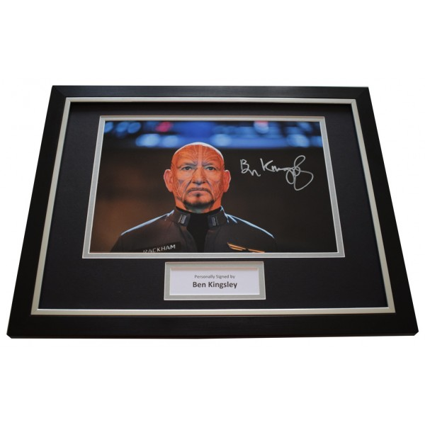Ben Kingsley SIGNED FRAMED Photo Autograph 16x12 display Enders Game Film  AFTAL &  COA Memorabilia