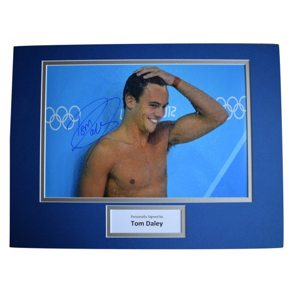 Tom Daley SIGNED autograph 16x12 photo display Olympic Diving    AFTAL  COA Memorabilia PERFECT GIFT