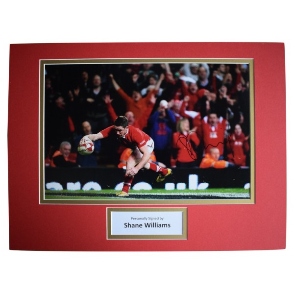 Shane Williams SIGNED autograph 16x12 photo display Wales Rugby Union   AFTAL  COA Memorabilia PERFECT GIFT