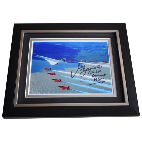 Mike Bannister SIGNED 10x8 FRAMED Photo Autograph Display Concorde Pilot AFTAL  COA Memorabilia PERFECT GIFT