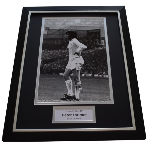 Peter Lorimer SIGNED FRAMED Photo Autograph 16x12 display Leeds United AFTAL &  COA Memorabilia