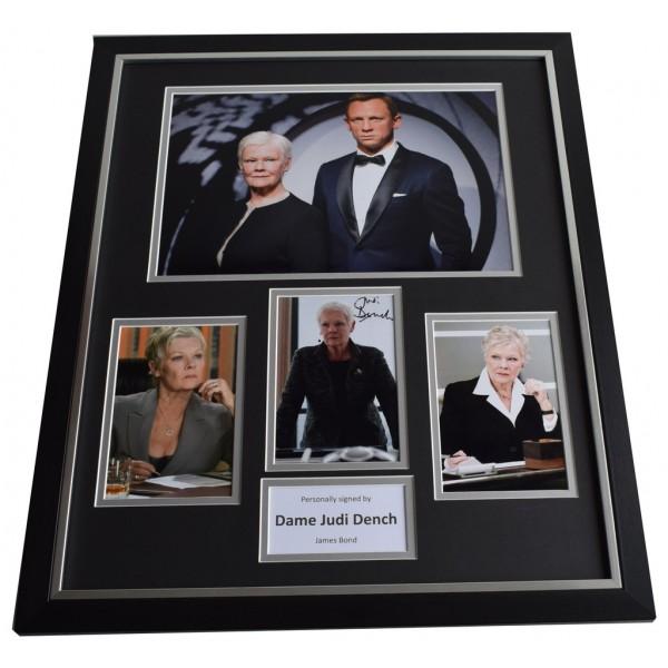 Dame Judi Dench SIGNED Framed Photo Autograph Huge display James Bond Film AFTAL COA 007