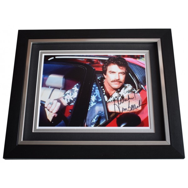 Tom Selleck SIGNED 10x8 FRAMED Photo Autograph Display Magnum TV  AFTAL  COA Memorabilia PERFECT GIFT