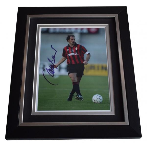Franco Baresi SIGNED 10x8 FRAMED Photo Autograph Display A.C. Milan Football AFTAL  COA Memorabilia PERFECT GIFT