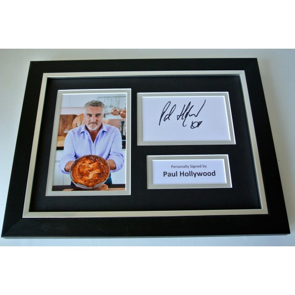 Paul Hollywood Signed A4 FRAMED photo Autograph display British Bake Off TV COA Perfect Gift