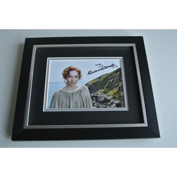 Eleanor Tomlinson SIGNED 10X8 FRAMED Photo Autograph Display Poldark TV AFTAL & COA Memorabilia PERFECT GIFT