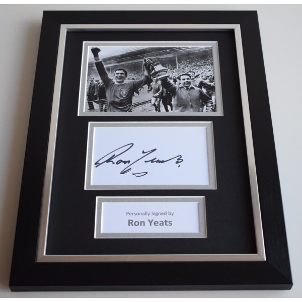 Ron Yeats Signed A4 FRAMED photo Autograph display Liverpool Football AFTAL COA memorabilia
