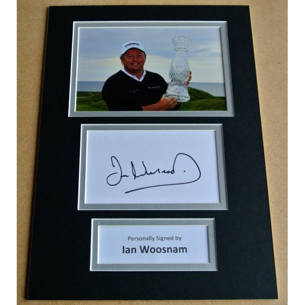 IAN WOOSNAM HAND SIGNED AUTOGRAPH A4 PHOTO DISPLAY GOLF CHAMPION GIFT & COA PERFECT GIFT