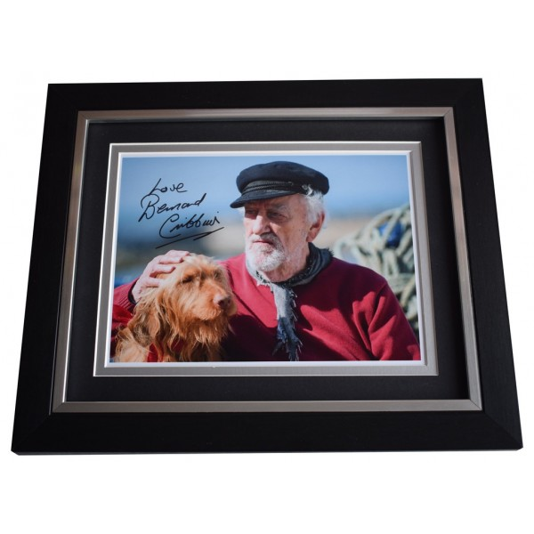 Bernard Cribbins SIGNED 10x8 FRAMED Photo Autograph Display Old Jacks Boat TV AFTAL  COA Memorabilia PERFECT GIFT
