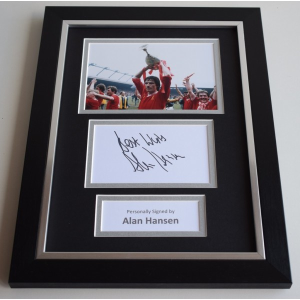 Alan Hansen Signed A4 FRAMED photo Autograph display Liverpool Football COA AFTAL memorabilia