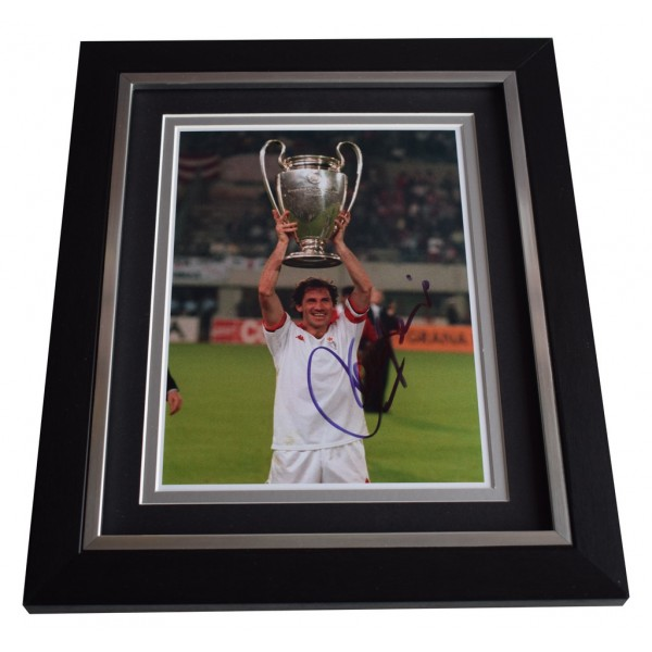 Franco Baresi SIGNED 10x8 FRAMED Photo Autograph Display A.C. Milan Football AFTAL  COA Memorabilia PERFECT GIFT