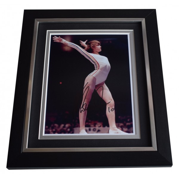 Nadia Comaneci SIGNED 10x8 FRAMED Photo Autograph Display Olympic Gymnastics AFTAL  COA Memorabilia PERFECT GIFT