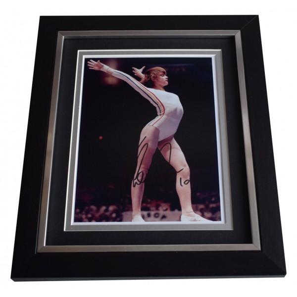 Nadia Comaneci SIGNED 10x8 FRAMED Photo Autograph Display Olympic Gymnastics AFTAL  COA Memorabilia PERFECT GIFT
