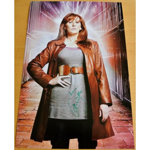 CATHERINE TATE GENUINE HAND SIGNED AUTOGRAPH 12X8 PHOTO DOCTOR WHO DONNA & COA         PERFECT GIFT