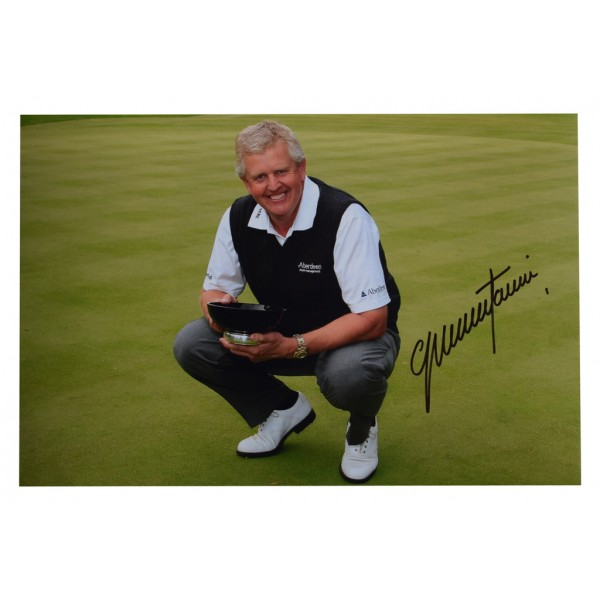 Colin Montgomerie SIGNED 12x8 Photo Autograph Golf Sport  AFTAL  COA Memorabilia PERFECT GIFT