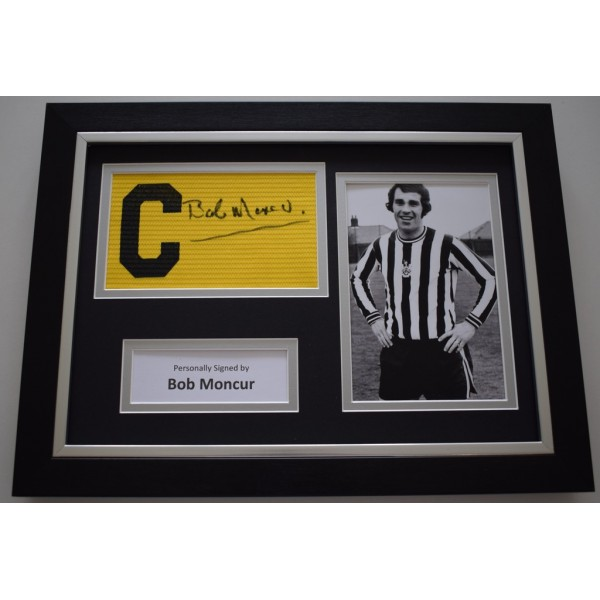 Bob Moncur SIGNED FRAMED Captains Armband A4 Display Newcastle United AFTAL &  COA Memorabilia PERFECT GIFT