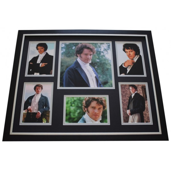 Colin Firth SIGNED Framed Photo Autograph Huge display Pride & Prejudice TV  AFTAL &  COA Memorabilia PERFECT GIFT