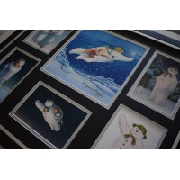 Raymond Briggs SIGNED Framed Photo Autograph Huge display Snowman TV AFTAL &  COA Memorabilia PERFECT GIFT