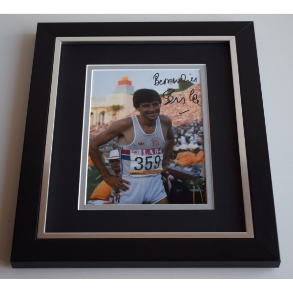 Sebastian Coe SIGNED 10X8 FRAMED Photo Autograph Olympics Athletics Display AFTAL & COA Memorabilia