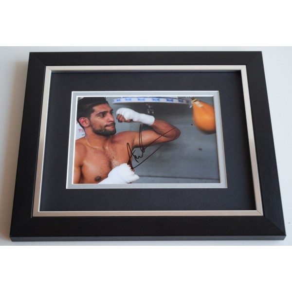 Amir Khan SIGNED 10X8 FRAMED Photo Autograph Boxing Sport Display AFTAL & COA Memorabilia