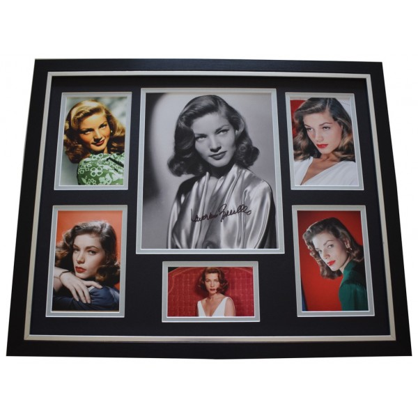 Lauren Bacall SIGNED Framed Photo Autograph Huge display Film AFTAL &  COA Memorabilia PERFECT GIFT