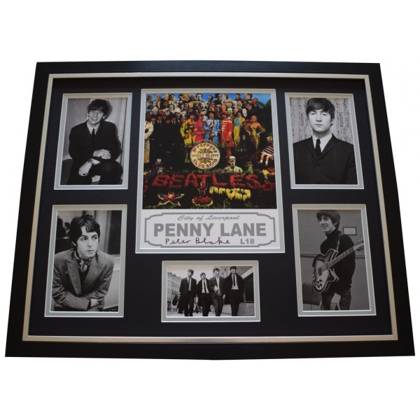 Peter Blake SIGNED Framed Photo Autograph Huge display Beatles Art Music   AFTAL &  COA Memorabilia PERFECT GIFT
