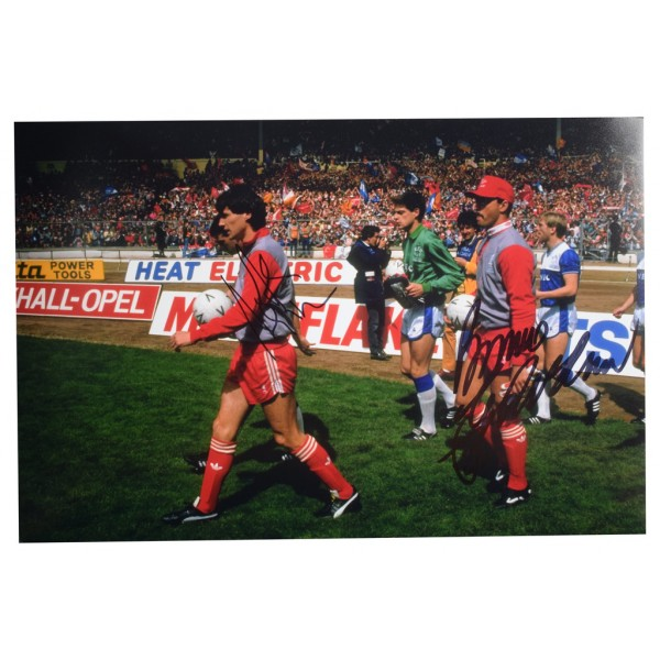 Alan Hansen & Bruce Grobbelaar SIGNED 12x8 Photo Autograph Liverpool   AFTAL  COA Memorabilia PERFECT GIFT