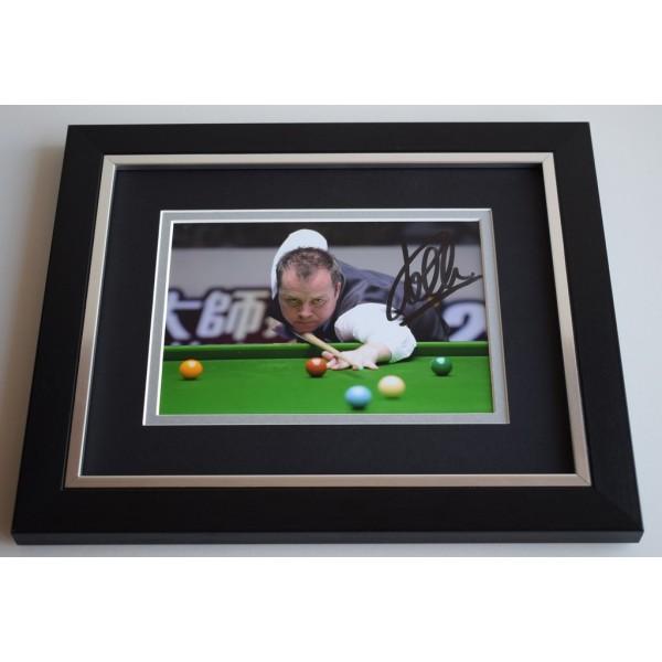 John Higgins SIGNED 10X8 FRAMED Photo Autograph Snooker Display AFTAL & COA Memorabilia
