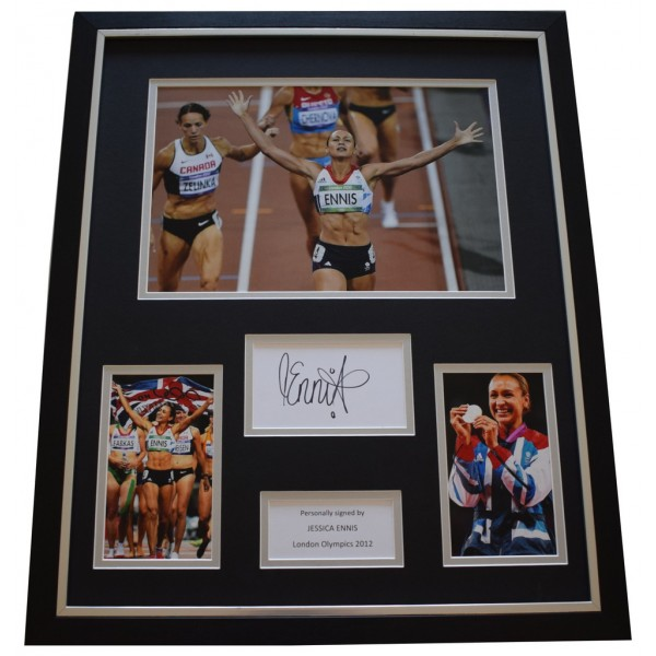 Jessica Ennis SIGNED Framed Photo Autograph Huge display Olympics AFTAL &  COA Memorabilia PERFECT GIFT
