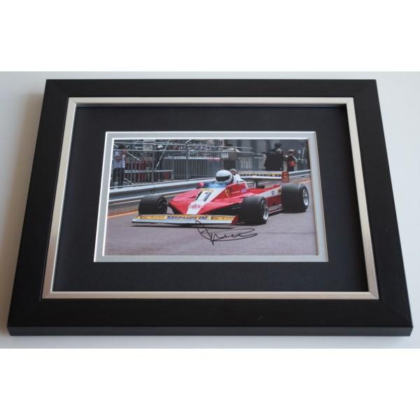 Jody Scheckter SIGNED 10X8 FRAMED Photo Autograph Formula 1 Sport Display AFTAL & COA Memorabilia