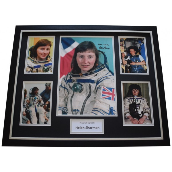 Helen Sharman SIGNED 10X8 FRAMED Photo Autograph Display MIR Space Station   AFTAL  COA Memorabilia PERFECT GIFT