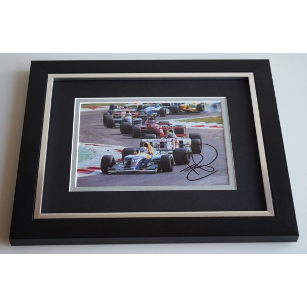 Nigel Mansell SIGNED 10X8 FRAMED Photo Autograph Formula 1 Sport Display AFTAL & COA Memorabilia