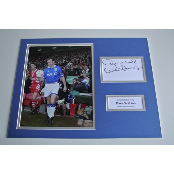 Dave Watson SIGNED autograph 16x12 photo display Everton Football COA & AFTAL Memorabilia PERFECT GIFT