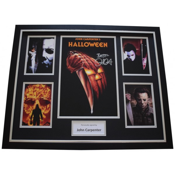 John Carpenter SIGNED Framed Photo Autograph Huge display Halloween Film  AFTAL &  COA Memorabilia PERFECT GIFT