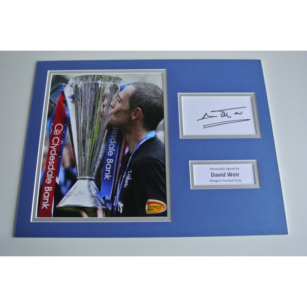 David Weir SIGNED autograph 16x12 photo display Glasgow Rangers Football & COA & AFTAL Memorabilia PERFECT GIFT