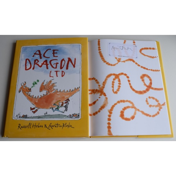 Quentin Blake Signed First Editon hard Back Book Ace Dragon Ltd    AFTAL & COA Memorabilia
