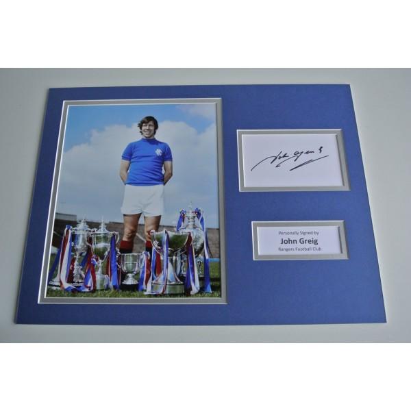 John Greig SIGNED autograph 16x12 photo display Rangers Football PROOF & COA & AFTAL Memorabilia PERFECT GIFT