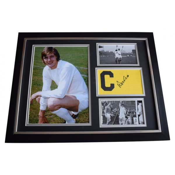 Allan Clarke SIGNED FRAMED Armband & Photo Autograph 16x12 Display Leeds United AFTAL  COA Memorabilia PERFECT GIFT