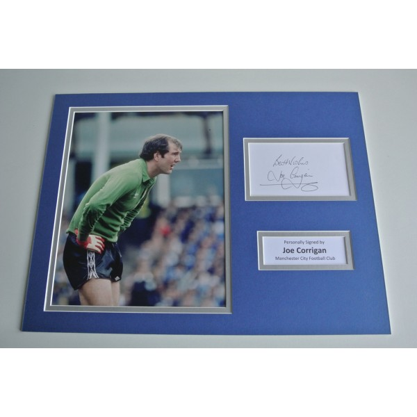 Joe Corrigan SIGNED autograph 16x12 photo display Manchester City Football COA & AFTAL Memorabilia PERFECT GIFT