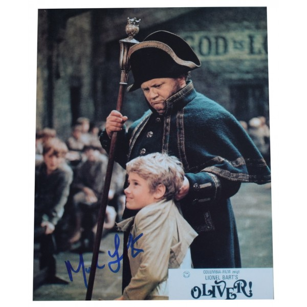 Mark Lester SIGNED 10x8 Photo Autograph Oliver Film Musical AFTAL  COA Memorabilia PERFECT GIFT