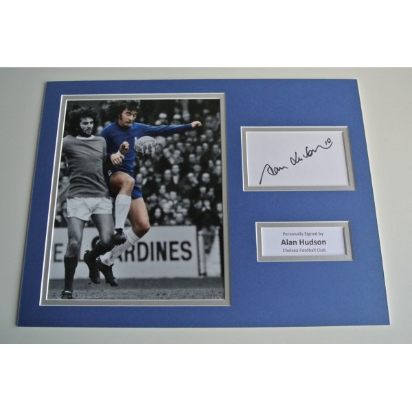 Alan Hudson SIGNED autograph 16x12 photo display Chelsea Football  COA & AFTAL Memorabilia PERFECT GIFT