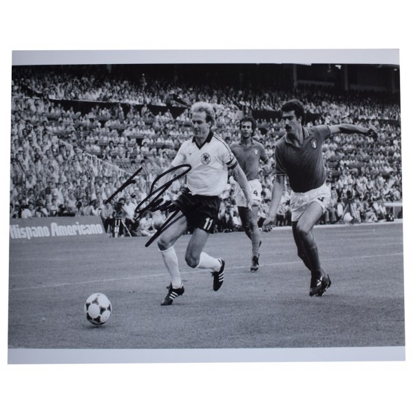 Karl Heinz Rummenigge SIGNED 10x8 Photo Autograph Germany Football  AFTAL  COA Memorabilia PERFECT GIFT