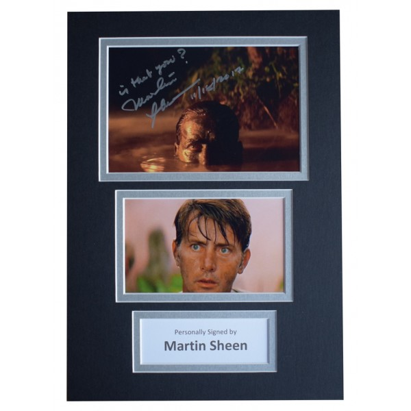 Martin Sheen Signed Autograph A4 photo display Apocalypse Now Film  AFTAL  COA Memorabilia PERFECT GIFT