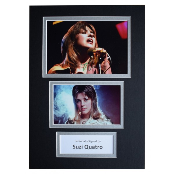 Suzi Quatro Signed Autograph A4 photo display Music AFTAL  COA Memorabilia PERFECT GIFT